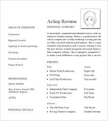 Actor Resume Template Word Examples Of Actors Resumes Musical Theatre Resume Examples