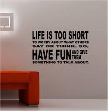 life is too short vinyl wall art quote lounge kitchen bedroom ebay