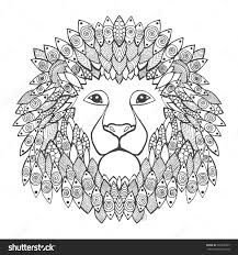 100 ideas lion head coloring sheet for kids on www spectaxmas