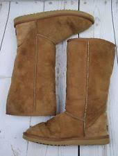 s ugg australia emilie boots ugg australia emilie leather chestnut brown wedge boot 8