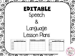 lesson plan template speech therapy speech chic 2015