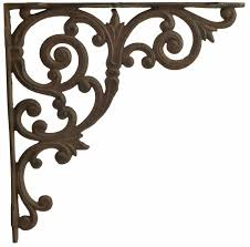 cast iron shelf brackets ornate shelf brackets ornate shelf braces