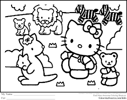 zoo animals coloring pages printable colouring for animal