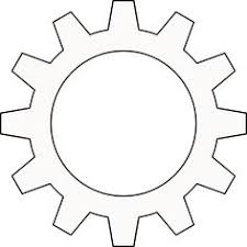 gear pattern printable outline crafts creating