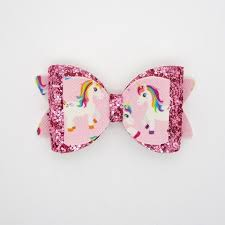 handmade hair bows glitter unicorn handmade hair bow chic