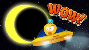 solar eclipse cartoon video about space for kids moon youtube