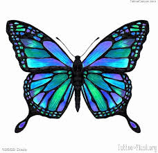 mixing purple and blue and teal butterfly teal