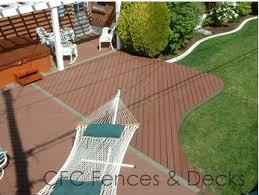 trex composite decking ground level backyard yo pinterest