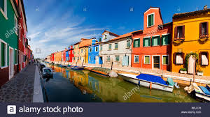 Painted Houses Panoramic View Of The City And The Colorfully Painted Houses And