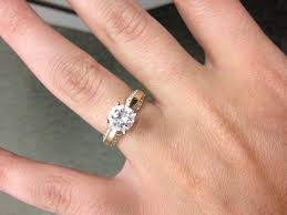 gold 1 carat engagement rings yellow gold engagement rings weddingbee