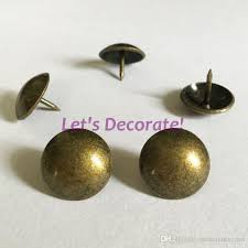 Tack Upholstery 19mm 15mm Brass Plated Decoration Tack Upholstery Tack Shoes