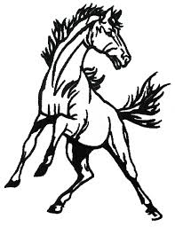 white mustang horse mustang horse ciparts cliparts and others art inspiration