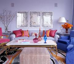 interior sweet decoration with light blue fabric sofa with red