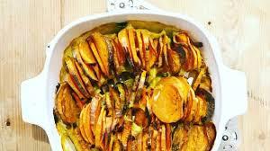 comment cuisiner les patates douces recettes tian rapide d automne aux patates douces et carottes recette par