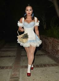 demi lovato dressed in a costume for a halloween party celebzz