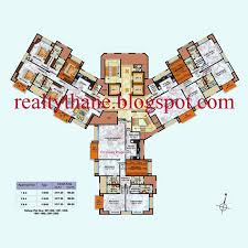 brookhill hiranandani estate 4bhk layout plan floor plansthane