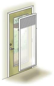 Enclosed Window Blinds Need Suggestions For Covering The Back Door