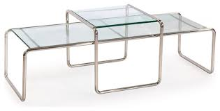 glass nesting coffee tables laccio coffee table inspired by marcel breuer