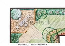 Backyard Plan Landscaping Plan Stock Images Royalty Free Images U0026 Vectors
