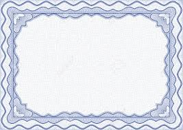 images of simple blue border certificate sc