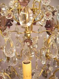 Amber Chandelier Cut Crystal Chandelier With Amethyst U0026 Amber Colored Crystals