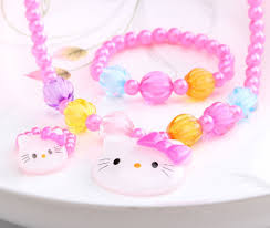 baby girl rings images Summer style 1set 3pcs candy beads hello kitty accessories jpg