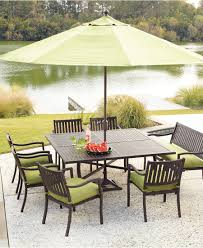Patio Dining Set With Umbrella Outdoor Restaurant Furniture Table Umbrella All Home Decorations