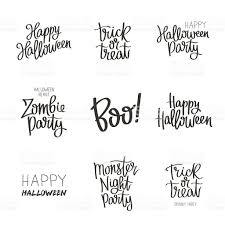 halloween vectors set quotes on halloween stock vector art 544586204 istock