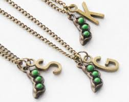 3 peas in a pod jewelry kitten etsy