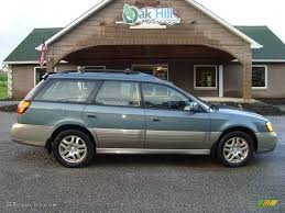subaru outback colors 2001 wintergreen metallic subaru outback limited wagon 16908484