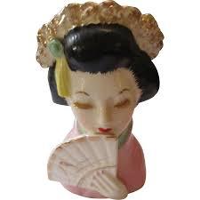 Vintage Lady Head Vases Vintage Oriental Lady Head Vase By Irice Import Sold On Ruby Lane