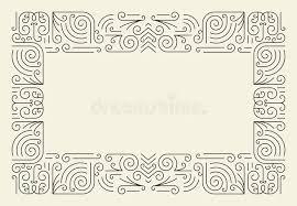 mono line frame simple certificate border template stock vector