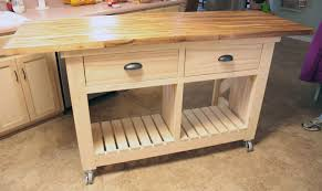 ana white double kitchen island with butcher block top diy