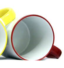 sublimation mug 10 11oz colour changing coloured inner rim