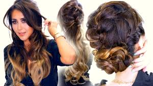 2 summer braid hairstyles cute half updo u0026 messy bun