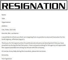 resignation letter resignation letter sample for better