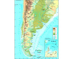 South America Physical Map Maps Of Argentina Detailed Map Of Argentina In English Tourist