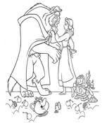 beauty beast coloring pages free coloring pages