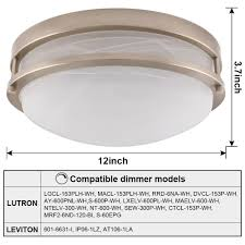 13 inch dimmable led flush mount ceiling light nickel