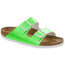 birkenstock arizona birko flor verni vert patent neon green