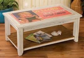 white vintage coffee table vintage sign coffee table weathered white