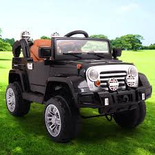kids red jeep 12v jeep style kids ride on truck battery powered electric car w