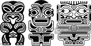 tribal tiki tattoos vector art getty images