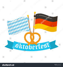 White Blue Orange Flag Germany Bavaria Flags Vector Icon Oktoberfest Stock Vektorgrafik