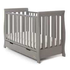 Obaby Crib Mattress Taupe Grey Obaby Stamford Mini Sleigh Cot Bed With Drawer Babythingz