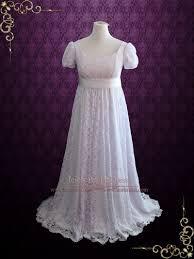 empire wedding dress edwardian regency style empire waist lace wedding dress harriet