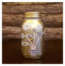 Mason Jar Wedding Centerpieces Silver Mason Jars Rustic Wedding Mason Jar Centerpiece Rustic