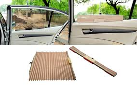 car curtain automatic side window sun shade beige for tata indica