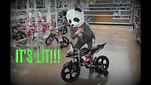 walmart motocross bikes panda gets lit at walmart maskimals youtube