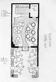 Shop Floor Plans Floor Plan Coffee Shop Sketch Graphic Pinterest Coffee